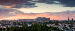 Sunrise over Edinburgh city (Kenny Muir) Tags: castle sunrise scotland edinburgh cityscape seat salisbury crags arthurs