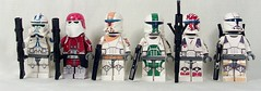 Clones (Kyle Peckham) Tags: boss starwars lego sev scorch clonetrooper fixer galacticmarine deltasquad