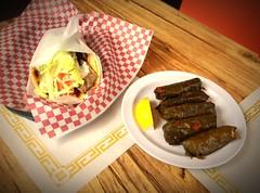 Gyro and Dolmades (Andrew Aliferis) Tags: food andy greek restaurant washington pennsylvania andrew sandwich pa aga gyro stuffedgrapeleaves dolmades aliferis mrgyro
