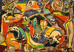 Jackson Pollock - The Key, 1946 at the Art Institute of Chicago IL Modern Art Wing (mbell1975) Tags: chicago art museum modern painting illinois key gallery museu unitedstates fine wing arts musée jackson musee m il institute american museo pollock artic muzeum aic 1946 the beaux beauxarts müze museumuseum