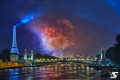 National Day @ Paris (A.G. Photographe) Tags: bridge paris france seine french fireworks
