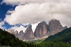 Campitello Skyline (cesco.pb) Tags: sky italy alps canon italia cielo alpi montagna trentino dolomites dolomiti montains valdifassa sassolungo campitellodifassa efs1855mmf3556is canoneos1000d