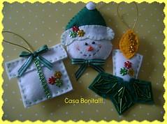 Presentinho / boneco de neve / vela (Casa Bonita Artesanato!) Tags: natal feltro