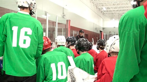 Brad Perry Coaching at junior showcase 19