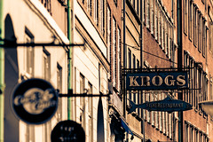 Krogs Fiskerstaurant Sign (Mabry Campbell) Tags: sign copenhagen denmark photography restaurant march photo europe neon capitol photograph danish neonsign 100 f28 2012 200mm capitolcity ef200mmf28liiusm krogs storefrontsign sec mabrycampbell march62012 201203065578