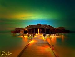 ~ Bora Bora an Awesome place on Earth ~ (stephgum32807) Tags: 1001nights frenchpolynesia colorphotoaward artcityart broabora boraboraresortthalassospa
