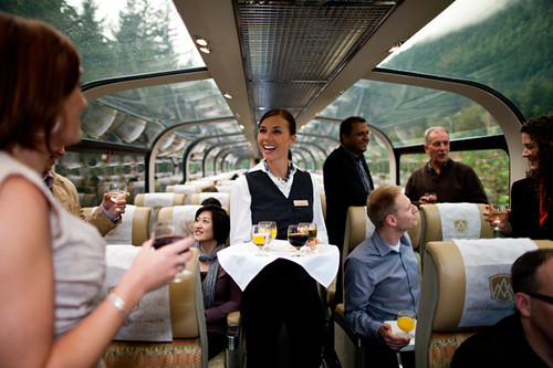 Dome car, The Rocky Mountaineer from The Luxury Train Club