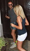 Mollie King Celebrities leaving their hotel after attending the wedding of Rochelle Wiseman and Marvin Humes which took place on Friday (July 27) at Blenheim Palace England -