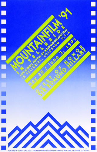 1991 Mountainfilm in Telluride Festival Poster