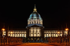 City Hall (k gokul) Tags: sanfrancisco longexposure architecture night cityhall sfo hdr