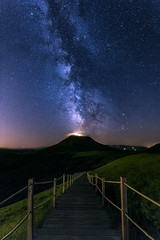 Milky way over a giant (Dg.63) Tags: light summer sky nature night canon stars fire volcano flickr ngc july zen fullframe 16mm auvergne milkyway 6d 1635 puydedome pariou ef1635mmf4lisusm