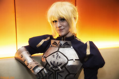 Anime Midwest 2016 Cosplay - Orange Wall Photos (RickDrew) Tags: anime midwest 2016 chicago il illinois orange hyatt ohare rosemont cartoon animation japan japanese convention cosplay costume saber sabre fatestaynight