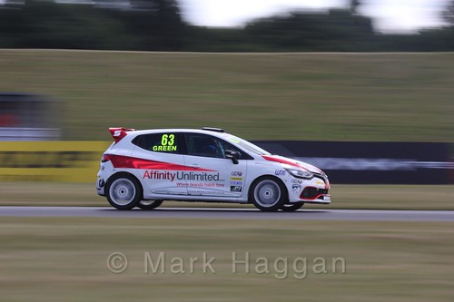 Rory Green in the Clio Cup during the BTCC 2016 Weekend at Snetterton