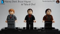 Harvey Dent, Bruce Wayne & Talia al Ghul (Random_Panda) Tags: lego fig figs figures figure minifig minifigs minifigure minifigures characters character dc comics superhero superheroes hero heroes super comic book books bruce wayne the dark knight trilogy harvey dent talia al ghul