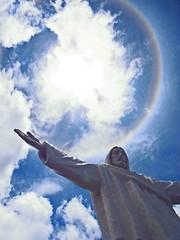 Jesus and the rainbow (martin.bike) Tags: sky circle per cusco rainbow christus statue jesus