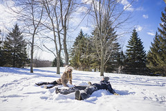 Two friends making snow angels (rsjogartref) Tags: activity adults angels canada canadian caucasian cold couple daylight enjoyment friends friendship fun happiness jacket leisure lifestyle love man millenials montreal north northern outwear people playful pleasure quebec scarf season seasonal snow weather white winter woman young
