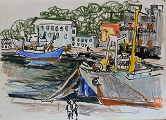 Petropavlovsk-Kamchatsky (georg_s22) Tags:  kamchatka sketch russia seaport art landscape plein