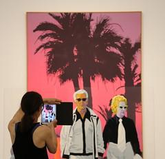 Pink Holidays (Alex L'aventurier,) Tags: edmundalleyn montreal montréal art peinture pink rose musée museum mac ipad screen écran tablette photo palm palmier people artcontemporain