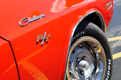 '70 Challenger R/T (Alex_Lewis116) Tags: car carshow automobile wheels sony sonya57 sonyslta57 minolta minolta3570mm color red torred dodge challenger rt macro chrome mopar american muscle