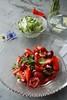 Fruit Salad with Thai Herbs (caprilemon) Tags: fruit salad cherry strawberry lemon honey vanilla lemongrass salt mint kornblume klatschmohn echte kamille feldblumen fieldflowers summer