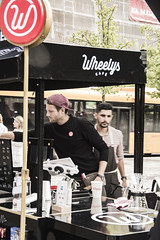 Street Barista (Fingerpopping) Tags: wheelys cafe caf coffee lund sweden coffeeshop shop streets street city