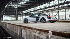 R8 V10 Plus photoshoot (Lennard Laar) Tags: audi r8 v10 plus r8v10 r8v10plus matte grey supercar asg asgsound supercars germany nrw sport sportscar super car cars carspotting carsighting recklinghausen railway station photoshoot shoot photo nikon nikkor d5100 50mm f18 lennard laar lennardlaar photography summer 2016 outdoor