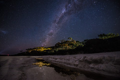 Hyams Beach at Night (silardtoth) Tags: trees australia astro background bay beach blue exposure green hyams jervis landcsape long milky way nature new south wales nsw ocean sky stars milkyway newsouthwales