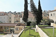 City View - Nazareth, Israel (Esther Spektor - Thanks for 11+ millions views..) Tags: view city nazareth israel panorama garden terrace building architecture plant tree lawn statue courtyard availablelight daytime travel