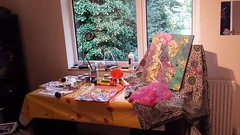 Being an artist involves flexibility to temporarily work anywhere #transferableskills #beinganartist #artistlife (www.mahliaamatina.com) Tags: abstract art relaxing mindful vibrant painting painter artist colourist nepal impressionism abstraction notional occult philosophical profound recondite separate existential healing magic