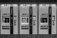 Monochrome Tickets (*Capture the Moment*) Tags: 2016 bokeh dof fotowalk marienplatz munich mnchen sonya7ii station subway ubahn zeissbatis1885 monochrome schwarzweiss