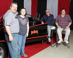Rachel & Mike with Batman & Robin (rachelstorr) Tags: batman adamwest fanexpo2016 burtward