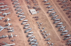 Pick n Mix (Al Henderson) Tags: grumman storage generaldynamics boneyard amarc lockheed tomcat davismonthanafb usaf aviation f111 military t33 arizona f14 e2 hawkeye aardvark tucson unitedstates us