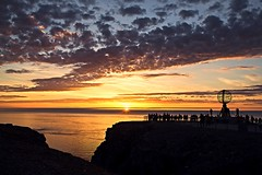 Endless Sunset (roberta.sacchelli) Tags: norway north sun sunset sky light sunshine nature landscape land sea northcape finnmark globe cloud clouds silhouette panorama view paesaggi norvegia norge artico arctic nord nordkapp circle tramonto sole giorno colori