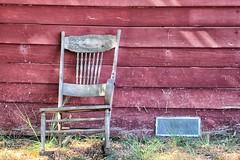 (katiegodowski_photography) Tags: marin county california red barns chair nature outside creative natural amateurs amateur artistic abandoned photography