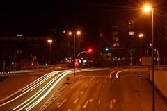 Nchtlicher Straenverkehr (meine.augenblicke) Tags: dortmund nacht deutschland night lightpainting effekt licht light verkehr traffic 2014 fotokurs kursmycamera kameranikond5200 kamera mrz march