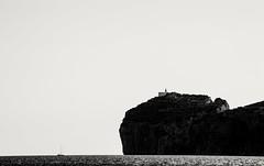 Differences (darioseventy) Tags: boat barca cliffs scogliere sardinia sardegna capocaccia summer summertime mare sea seaside blackanwhite bw bn bianconero contrast contrasto