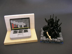 Mr. Cab's 3rd Mociversary (Mr. Cab) Tags: lego moc foitsop micro mociversary 3rd computer castle