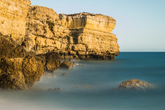 (Attila Pasek) Tags: portugal beach longexposuretime rock sea water