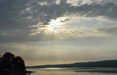 Arnside (Albie n Glo) Tags: arnside riverkent estuary cumbria sky cloud sunbeams coast water