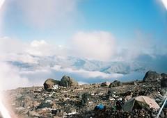 (Nikolay Kulivets) Tags: 35mm film olympusmjuii mjuii kodak georgia kazbek caucaus mountain camp rocks clouds alpinism bivvy landscape