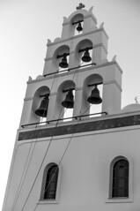 santorini church (durandyanick) Tags: santorini greece church bw bells bell son sony a7 55mm prime zeiss travel