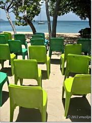 Teatro del Mar. Theater at Sea (ironde) Tags: ocean blue sea verde green azul island chair chairs silla caribbean mayreau sillas caribe ocano ironde