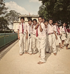 The KickassCrew (@Alebi) Tags: school india kids uniform indian schoolkids tones everydaylife kickass banglore tipu canonef2470f28 tigerofmysore canon5dmarkii kickasscrew sulthantipustomb tipusaheb sulthantipu