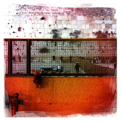 Ferkel in front of the Wailing Wall by night, Jerusalem