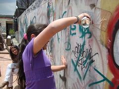 23 DIA DEL LLIBRE, GOSAR LLEGINT (Assi-one) Tags: street art catalunya graff barcellona schablonen llibre astreet semilla llegint assione pochpir bomboleta