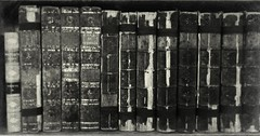 life of johnson (explored) (friendlydrag0n) Tags: old bw white black texture film monochrome leather vintage gold mono book decay dr library johnson band doctor damage faux visible damaged distress bound biography binding volume biog tooling