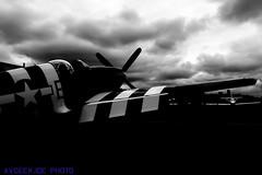 A D-Day Veteran Sits on KBFI Tarmac... (AvgeekJoe) Tags: blackandwhite bw plane airplane blackwhite other aviation events mustang warbirds warbird boeingfield hff kbfi p51bmustang p51b ddayvetera