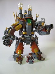 "Steam Punk Mech ""The Queens Hammer"" (Hammerstein NWC) Tags: chains lego titan mecha mech steampunk verne sidan legomech brickforge citizenbrick brickwarriors mechaskill mechaschool"