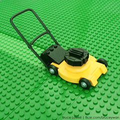 LEGO Lawnmower (bruceywan) Tags: sculpture grass lego bruce lawn lawnmower mower photostream lowell moc brucelowellcom