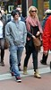 DJ Ashba, lead guitarist from Guns N Roses, is seen out about with a mystery blonde on Grafton Street Dublin, Ireland